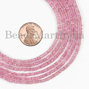 Shop Pink Sapphire Beads! Natural Pink Sapphire Beads, Pink Sapphire Faceted Beads, Pink Sapphire Rondelle Beads, Pink Sapphire Gemstone Beads, sapphire Gemstone Beads   Natural genuine faceted Pink Sapphire beads for beading and jewelry making.  #jewelry #beads #beadedjewelry #diyjewelry #jewelrymaking #beadstore #beading #affiliate #ad