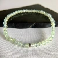 4mm Prehnite Bracelet, Heals The Healer, Green Gemstone Beaded Stretch Bracelet, Spiritual Knowing, Connect Higher Self, Mental Clarity | Natural genuine Gemstone jewelry. Buy crystal jewelry, handmade handcrafted artisan jewelry for women.  Unique handmade gift ideas. #jewelry #beadedjewelry #beadedjewelry #gift #shopping #handmadejewelry #fashion #style #product #jewelry #affiliate #ad