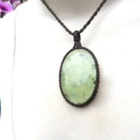 Prehnite Necklace,  Prehnite Jewelry, Macrame Necklace,  Jewelry, Green Stone, Positive Energy, Gift For Friend, Intuition Crystals, | Natural genuine Gemstone jewelry. Buy crystal jewelry, handmade handcrafted artisan jewelry for women.  Unique handmade gift ideas. #jewelry #beadedjewelry #beadedjewelry #gift #shopping #handmadejewelry #fashion #style #product #jewelry #affiliate #ad