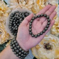 Pyrite Bracelet – Fools Gold – Protection Stone – No. 57 | Natural genuine Gemstone jewelry. Buy crystal jewelry, handmade handcrafted artisan jewelry for women.  Unique handmade gift ideas. #jewelry #beadedjewelry #beadedjewelry #gift #shopping #handmadejewelry #fashion #style #product #jewelry #affiliate #ad