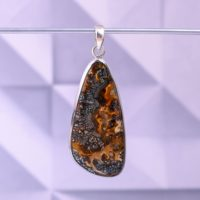 Indonesian Wood Pyrite Pendant With Fire Flashes • 925 Silver Jewelry • Healing Stones • One Of A Kind Wood Pyrite Gemstone • Gift For Women | Natural genuine Gemstone jewelry. Buy crystal jewelry, handmade handcrafted artisan jewelry for women.  Unique handmade gift ideas. #jewelry #beadedjewelry #beadedjewelry #gift #shopping #handmadejewelry #fashion #style #product #jewelry #affiliate #ad