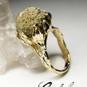 Shop Pyrite Rings! Unisex Pyrite Gold Ring Natural Gemstone 14k Gold Ring Fine Jewelry Art Nouveau Collection Men's Ring Statement Ring Unisex Engagement Gems   Natural genuine Pyrite rings, simple unique alternative gemstone engagement rings. #rings #jewelry #bridal #wedding #jewelryaccessories #engagementrings #weddingideas #affiliate #ad
