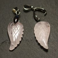 1pc – Pendant – Quartz Pink Wing Engraved 24mm – 8741140016835 | Natural genuine Gemstone jewelry. Buy crystal jewelry, handmade handcrafted artisan jewelry for women.  Unique handmade gift ideas. #jewelry #beadedjewelry #beadedjewelry #gift #shopping #handmadejewelry #fashion #style #product #jewelry #affiliate #ad