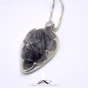 Silver Ritulated Quartz Pendant, Black and White pendant, Meditation, Crystal Jewelry, Crystal Healing, Yoga, Bridesmaid, Gift for Her | Natural genuine Gemstone pendants. Buy crystal jewelry, handmade handcrafted artisan jewelry for women.  Unique handmade gift ideas. #jewelry #beadedpendants #beadedjewelry #gift #shopping #handmadejewelry #fashion #style #product #pendants #affiliate #ad