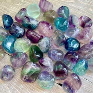 Rainbow Fluorite Tumbled Protection Clarity Clearing Renewal Beginnings Reiki Charged Shielding Release | Natural genuine stones & crystals in various shapes & sizes. Buy raw cut, tumbled, or polished gemstones for making jewelry or crystal healing energy vibration raising reiki stones. #crystals #gemstones #crystalhealing #crystalsandgemstones #energyhealing #affiliate #ad