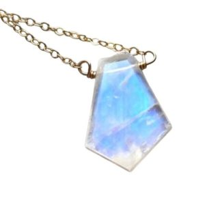 Rainbow Moonstone Crystal Healing Pendant Necklace – White Stone Necklace – June Birthstone Jewelry Gift For Wife – Mom – Women | Natural genuine Gemstone pendants. Buy crystal jewelry, handmade handcrafted artisan jewelry for women.  Unique handmade gift ideas. #jewelry #beadedpendants #beadedjewelry #gift #shopping #handmadejewelry #fashion #style #product #pendants #affiliate #ad