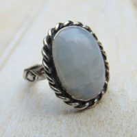 Sterling Silver Moonstone Ring – Rainbow Moonstone Jewellery – Statement Ring – Bezel Set – Blue Gemstone – Us Size 7 1 / 4 – Uk Size O | Natural genuine Gemstone jewelry. Buy crystal jewelry, handmade handcrafted artisan jewelry for women.  Unique handmade gift ideas. #jewelry #beadedjewelry #beadedjewelry #gift #shopping #handmadejewelry #fashion #style #product #jewelry #affiliate #ad