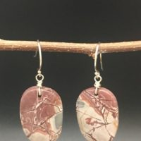 Sonora Dendritic Rhyolite Earrings | Natural genuine Gemstone jewelry. Buy crystal jewelry, handmade handcrafted artisan jewelry for women.  Unique handmade gift ideas. #jewelry #beadedjewelry #beadedjewelry #gift #shopping #handmadejewelry #fashion #style #product #jewelry #affiliate #ad
