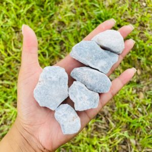 Raw Angelite Crystal | Reiki Charged | Natural genuine stones & crystals in various shapes & sizes. Buy raw cut, tumbled, or polished gemstones for making jewelry or crystal healing energy vibration raising reiki stones. #crystals #gemstones #crystalhealing #crystalsandgemstones #energyhealing #affiliate #ad