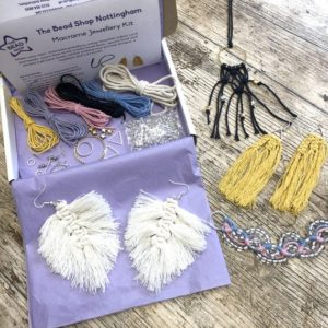 Shop Macrame Jewelry Tools! Recycled Cotton Macramé Jewellery Kit | Shop jewelry making and beading supplies, tools & findings for DIY jewelry making and crafts. #jewelrymaking #diyjewelry #jewelrycrafts #jewelrysupplies #beading #affiliate #ad