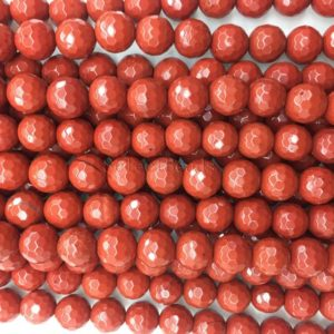 faceted red jasper beads – jasper stone beads – natural gemstone beads – wholesale beads  – red beads – round beads  – 4-20mm – 15 inch | Natural genuine beads Gemstone beads for beading and jewelry making.  #jewelry #beads #beadedjewelry #diyjewelry #jewelrymaking #beadstore #beading #affiliate #ad