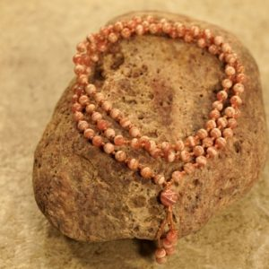 Rhodochrosite Mala • Hand-Knotted Mala • Dainty Necklace • Dainty Rhodochrosite Mala Necklace • 5.5mm • Argentina Rhodochrosite AAA  • 3757   Natural genuine Gemstone necklaces. Buy crystal jewelry, handmade handcrafted artisan jewelry for women.  Unique handmade gift ideas. #jewelry #beadednecklaces #beadedjewelry #gift #shopping #handmadejewelry #fashion #style #product #necklaces #affiliate #ad