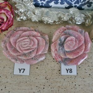 Shop Rhodochrosite Shapes! Rhodochrosite Hands Carved Rose, Rhodochrosite Flower From Capilitas, Argentina. Crystal Flower, Heart Chakra,   Natural genuine stones & crystals in various shapes & sizes. Buy raw cut, tumbled, or polished gemstones for making jewelry or crystal healing energy vibration raising reiki stones. #crystals #gemstones #crystalhealing #crystalsandgemstones #energyhealing #affiliate #ad