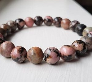 Shop Rhodonite Jewelry! Rhodonite Crystal Bracelet | Natural genuine Rhodonite jewelry. Buy crystal jewelry, handmade handcrafted artisan jewelry for women.  Unique handmade gift ideas. #jewelry #beadedjewelry #beadedjewelry #gift #shopping #handmadejewelry #fashion #style #product #jewelry #affiliate #ad