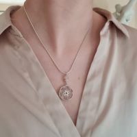 Rose Quartz Silver Spiral Necklace, Pendant Gift For Girlfriend, 30th Birthday Gift For Her, Spiritual Healing Gift . | Natural genuine Gemstone jewelry. Buy crystal jewelry, handmade handcrafted artisan jewelry for women.  Unique handmade gift ideas. #jewelry #beadedjewelry #beadedjewelry #gift #shopping #handmadejewelry #fashion #style #product #jewelry #affiliate #ad