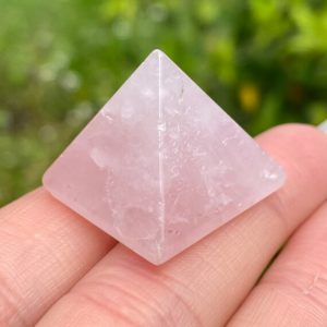 Shop Rose Quartz Points & Wands! Rose Quartz Pyramid, Rose Quartz Crystal Pyramids, Rose Quartz Point, Rose Quartz, Crystal Pyramid, Power Point, Mini Pyramid   Natural genuine stones & crystals in various shapes & sizes. Buy raw cut, tumbled, or polished gemstones for making jewelry or crystal healing energy vibration raising reiki stones. #crystals #gemstones #crystalhealing #crystalsandgemstones #energyhealing #affiliate #ad