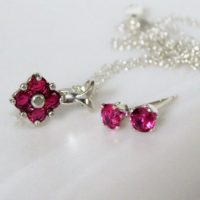 New Ruby Jewelry Set ~ Ruby Studs And Pendant ~ Ruby Necklace & Earrings Set ~ Ruby Gemstone ~ July Birthday | Natural genuine Gemstone jewelry. Buy crystal jewelry, handmade handcrafted artisan jewelry for women.  Unique handmade gift ideas. #jewelry #beadedjewelry #beadedjewelry #gift #shopping #handmadejewelry #fashion #style #product #jewelry #affiliate #ad