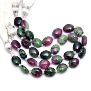 """Shop Ruby Zoisite Bead Shapes! Aaa+ Rare Ruby Zoisite 6x9mm Smooth Oval Fancy Beads   Natural Ruby Zoisite Semi Precious Gemstone Loose Oval Beads For Jewelry   6"""" Strand   Natural genuine other-shape Ruby Zoisite beads for beading and jewelry making.  #jewelry #beads #beadedjewelry #diyjewelry #jewelrymaking #beadstore #beading #affiliate #ad"""