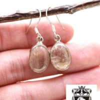 Rutile Rutilated Quartz 925 Solid Sterling Silver Earrings E31 | Natural genuine Gemstone jewelry. Buy crystal jewelry, handmade handcrafted artisan jewelry for women.  Unique handmade gift ideas. #jewelry #beadedjewelry #beadedjewelry #gift #shopping #handmadejewelry #fashion #style #product #jewelry #affiliate #ad