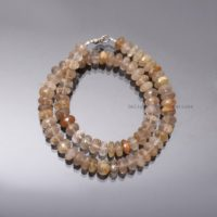 Natural Golden Rutile Beaded Necklace-rutile Quartz Semi Precious Beads Necklace-10mm Faceted Rondell Fine Cute Necklace-women Necklace | Natural genuine Gemstone jewelry. Buy crystal jewelry, handmade handcrafted artisan jewelry for women.  Unique handmade gift ideas. #jewelry #beadedjewelry #beadedjewelry #gift #shopping #handmadejewelry #fashion #style #product #jewelry #affiliate #ad
