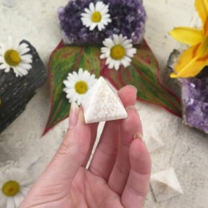 Shop Scolecite Stones & Crystals! Scolecite Pyramids – Crystal Pyramids   Natural genuine stones & crystals in various shapes & sizes. Buy raw cut, tumbled, or polished gemstones for making jewelry or crystal healing energy vibration raising reiki stones. #crystals #gemstones #crystalhealing #crystalsandgemstones #energyhealing #affiliate #ad
