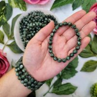 Seraphinite Bracelet – High Quality – From Siberia – No. 281 | Natural genuine Gemstone jewelry. Buy crystal jewelry, handmade handcrafted artisan jewelry for women.  Unique handmade gift ideas. #jewelry #beadedjewelry #beadedjewelry #gift #shopping #handmadejewelry #fashion #style #product #jewelry #affiliate #ad