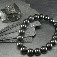 Shungite Genuine Bracelet ~ 7 Inches ~ 10mm Round Beads | Natural genuine Gemstone jewelry. Buy crystal jewelry, handmade handcrafted artisan jewelry for women.  Unique handmade gift ideas. #jewelry #beadedjewelry #beadedjewelry #gift #shopping #handmadejewelry #fashion #style #product #jewelry #affiliate #ad