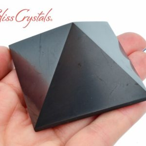 Shop Shungite Shapes! Shungite Pyramid Polished For Purification Healing Crystal And Stone #sp78   Natural genuine stones & crystals in various shapes & sizes. Buy raw cut, tumbled, or polished gemstones for making jewelry or crystal healing energy vibration raising reiki stones. #crystals #gemstones #crystalhealing #crystalsandgemstones #energyhealing #affiliate #ad