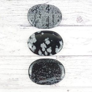 Shop Snowflake Obsidian Shapes! Snowflake Obsidian Palm Stones, Reiki Infused Obsidian Worry Stone, Self Care Mindfulness Gift   Natural genuine stones & crystals in various shapes & sizes. Buy raw cut, tumbled, or polished gemstones for making jewelry or crystal healing energy vibration raising reiki stones. #crystals #gemstones #crystalhealing #crystalsandgemstones #energyhealing #affiliate #ad