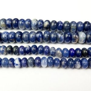 blue sodalite rondelle beads – natural gemstone abacus beads – blue stone loose beads – blue jewelry beads 4x6mm 5x8mm beads  – 15 beads   Natural genuine beads Array beads for beading and jewelry making.  #jewelry #beads #beadedjewelry #diyjewelry #jewelrymaking #beadstore #beading #affiliate #ad