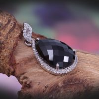 Natural Black Spinel Pendant, 925 Sterling Silver, pear Faceted Gemstone Pendant, vintage Statement Pendant Women, bohemian Black Stone Pendant, | Natural genuine Gemstone jewelry. Buy crystal jewelry, handmade handcrafted artisan jewelry for women.  Unique handmade gift ideas. #jewelry #beadedjewelry #beadedjewelry #gift #shopping #handmadejewelry #fashion #style #product #jewelry #affiliate #ad