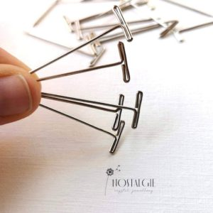 Shop Macrame Jewelry Tools! Stainless Steel T Pins For Macrame Boards | Shop jewelry making and beading supplies, tools & findings for DIY jewelry making and crafts. #jewelrymaking #diyjewelry #jewelrycrafts #jewelrysupplies #beading #affiliate #ad