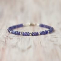 Genuine Tanzanite Bracelet Silver December Birthday Jewelry Blue Stone Tanzanite Jewelry Sparkle Gemstone Jewelry Mothers Gift For Sister | Natural genuine Gemstone jewelry. Buy crystal jewelry, handmade handcrafted artisan jewelry for women.  Unique handmade gift ideas. #jewelry #beadedjewelry #beadedjewelry #gift #shopping #handmadejewelry #fashion #style #product #jewelry #affiliate #ad