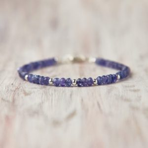 Shop Tanzanite Bracelets! Genuine Tanzanite Bracelet Silver December Birthday Jewelry Blue Stone Tanzanite Jewelry Sparkle Gemstone Jewelry Mothers Gift For Sister | Natural genuine Tanzanite bracelets. Buy crystal jewelry, handmade handcrafted artisan jewelry for women.  Unique handmade gift ideas. #jewelry #beadedbracelets #beadedjewelry #gift #shopping #handmadejewelry #fashion #style #product #bracelets #affiliate #ad