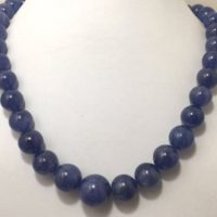 Rare N Exclusive Aaa Quality Tanzanite Plain Smooth Round 12 To 18 Mm 20 Gemstone Bead Necklace / Excellent Quality Necklace / Wedding Gift | Natural genuine Gemstone jewelry. Buy handcrafted artisan wedding jewelry.  Unique handmade bridal jewelry gift ideas. #jewelry #beadedjewelry #gift #crystaljewelry #shopping #handmadejewelry #wedding #bridal #jewelry #affiliate #ad