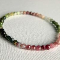 4mm Mix Color Tourmaline Bracelet, Aaa Tourmaline Stretch Wrist Mala, Happiness, Multicolor Tourmaline, Release Stress, Self Confidence Mala | Natural genuine Gemstone jewelry. Buy crystal jewelry, handmade handcrafted artisan jewelry for women.  Unique handmade gift ideas. #jewelry #beadedjewelry #beadedjewelry #gift #shopping #handmadejewelry #fashion #style #product #jewelry #affiliate #ad