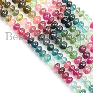 Shop Tourmaline Rondelle Beads! Multi Tourmaline Beads, Multi Tourmaline Smooth Beads, Multi Tourmaline Rondelle Beads, Multi Tourmaline Plain Rondelle Shape Beads | Natural genuine rondelle Tourmaline beads for beading and jewelry making.  #jewelry #beads #beadedjewelry #diyjewelry #jewelrymaking #beadstore #beading #affiliate #ad