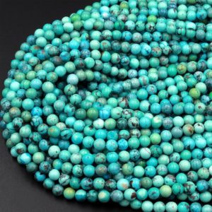 """Shop Turquoise Round Beads! Natural Turquoise 4mm Round Beads High Quality Real Genuine Vibrant Blue Green Turquoise Spheres  15.5"""" Strand   Natural genuine round Turquoise beads for beading and jewelry making.  #jewelry #beads #beadedjewelry #diyjewelry #jewelrymaking #beadstore #beading #affiliate #ad"""