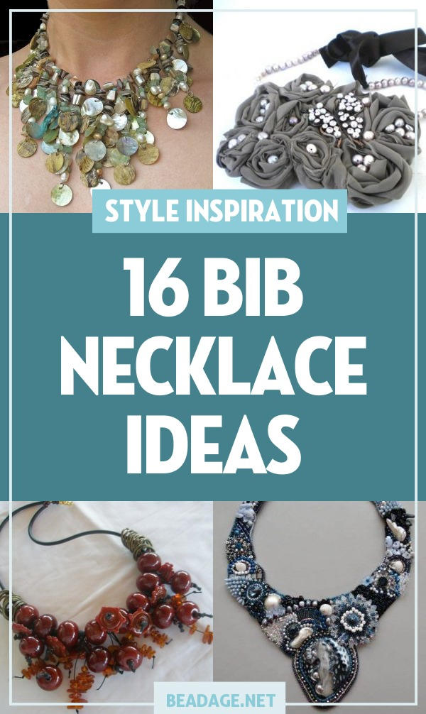 16 Bib Necklace Jewelry Making Ideas |  | DIY Jewelry Making Ideas, Beading Ideas, Handcrafted Beaded Jewelry, Handmade, Beginners, Tutorials, Craft Projects | Fashion, Accessoreis, Jewels, Gems, Style | #craft #diy #jewelrymaking #beading #beadage #fashion #accessories #jewelry #style