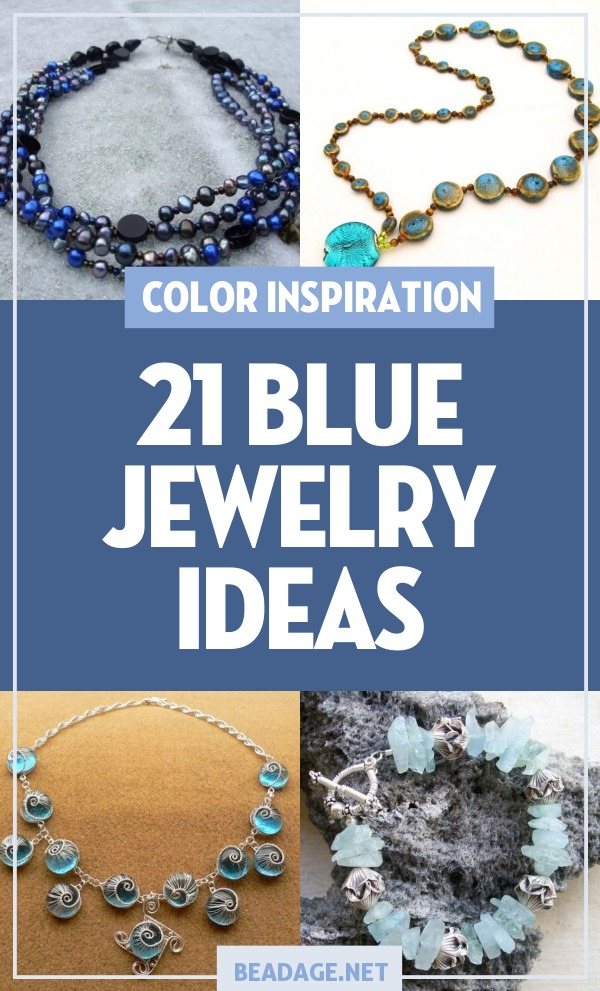 21 Blue Jewelry Ideas |  | DIY Jewelry Making Ideas, Beading Ideas, Handcrafted Beaded Jewelry, Handmade, Beginners, Tutorials, Craft Projects | Fashion, Accessoreis, Jewels, Gems, Style | #craft #diy #jewelrymaking #beading #beadage #fashion #accessories #jewelry #style