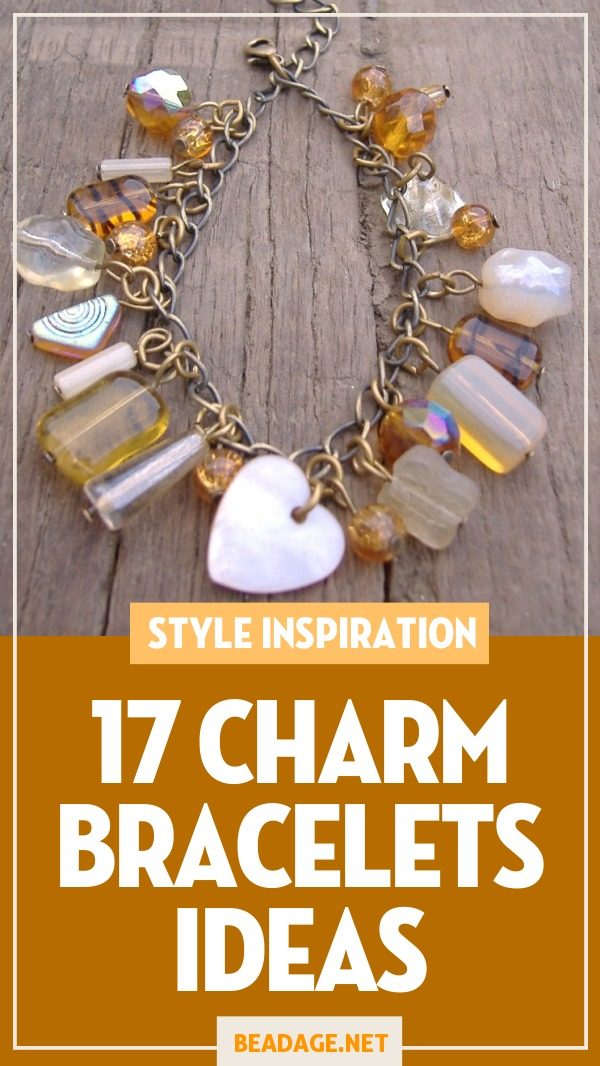 17 Charm Bracelets Ideas |  | DIY Jewelry Making Ideas, Beading Ideas, Handcrafted Beaded Jewelry, Handmade, Beginners, Tutorials, Craft Projects | Fashion, Accessoreis, Jewels, Gems, Style | #craft #diy #jewelrymaking #beading #beadage #fashion #accessories #jewelry #style