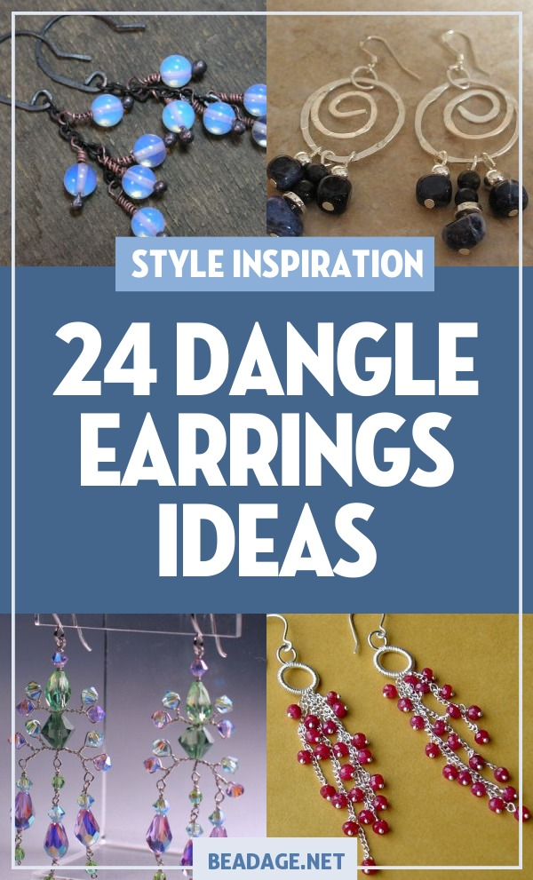 24 Dangle Earrings Ideas | Beaded dangle earrings are beautiful DIY jewelry projects that are easy to make. | DIY Jewelry Making Ideas, Beading Ideas, Handcrafted Beaded Jewelry, Handmade, Beginners, Tutorials, Craft Projects | Fashion, Accessoreis, Jewels, Gems, Style | #craft #diy #jewelrymaking #beading #beadage #fashion #accessories #jewelry #style