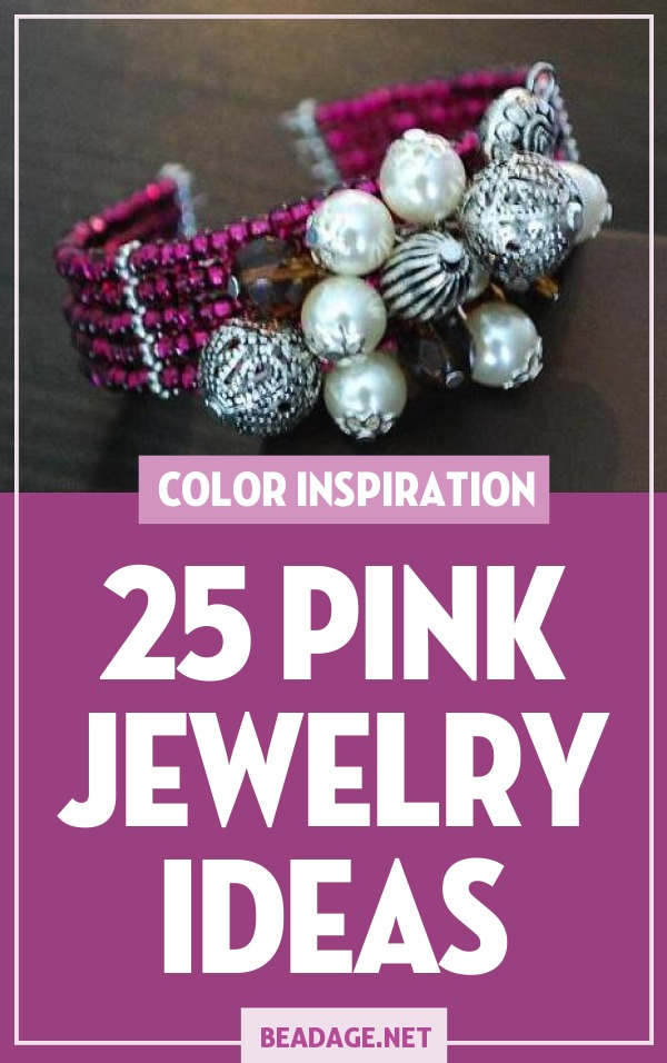 25 Pink Jewelry Ideas |  | DIY Jewelry Making Ideas, Beading Ideas, Handcrafted Beaded Jewelry, Handmade, Beginners, Tutorials, Craft Projects | Fashion, Accessoreis, Jewels, Gems, Style | #craft #diy #jewelrymaking #beading #beadage #fashion #accessories #jewelry #style