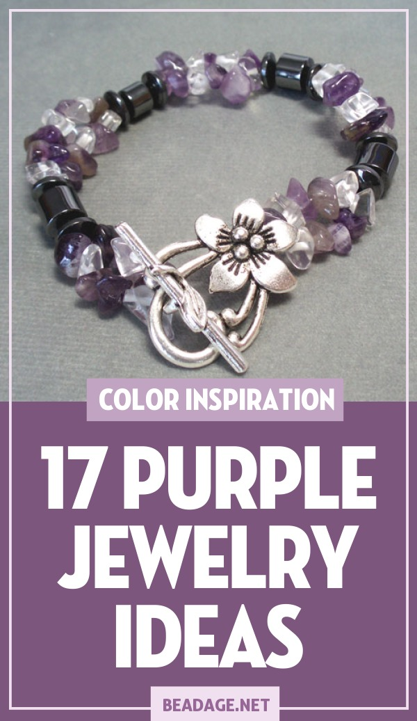 17 Purple Jewelry Ideas |  | DIY Jewelry Making Ideas, Beading Ideas, Handcrafted Beaded Jewelry, Handmade, Beginners, Tutorials, Craft Projects | Fashion, Accessoreis, Jewels, Gems, Style | #craft #diy #jewelrymaking #beading #beadage #fashion #accessories #jewelry #style