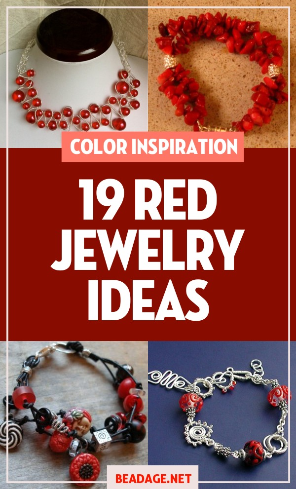19 Red Jewelry Ideas |  | DIY Jewelry Making Ideas, Beading Ideas, Handcrafted Beaded Jewelry, Handmade, Beginners, Tutorials, Craft Projects | Fashion, Accessoreis, Jewels, Gems, Style | #craft #diy #jewelrymaking #beading #beadage #fashion #accessories #jewelry #style