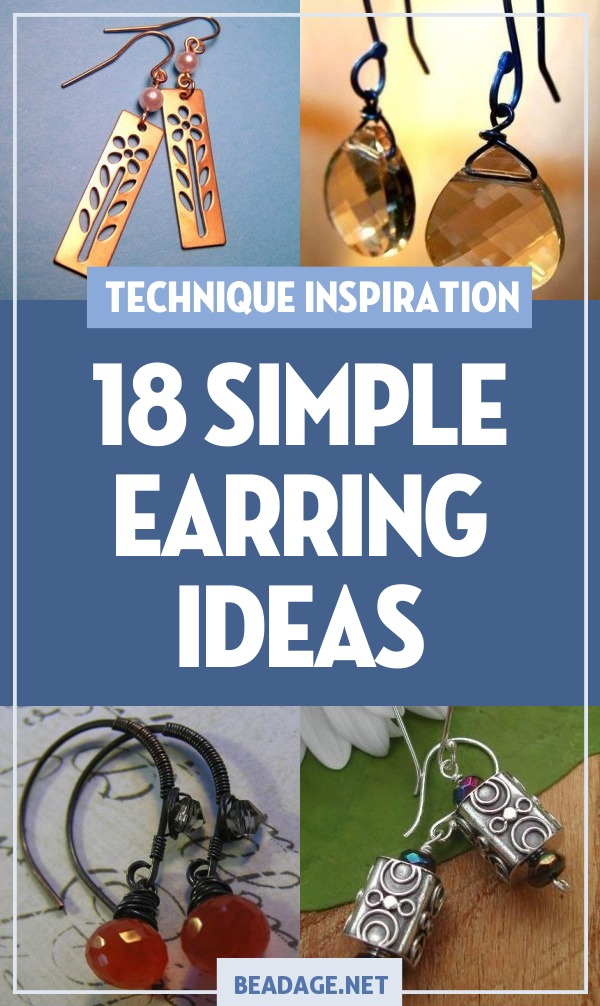 18 Simple & Easy Earring Making Ideas | Earrings are one of the easiest DIY jewelry projects to make. Here are some ideas for simple earrings that only take a few beads, some findings, and a pair of jewelry pliers. | DIY Jewelry Making Ideas, Beading Ideas, Handcrafted Beaded Jewelry, Handmade, Beginners, Tutorials, Craft Projects | Fashion, Accessoreis, Jewels, Gems, Style | #craft #diy #jewelrymaking #beading #beadage #fashion #accessories #jewelry #style