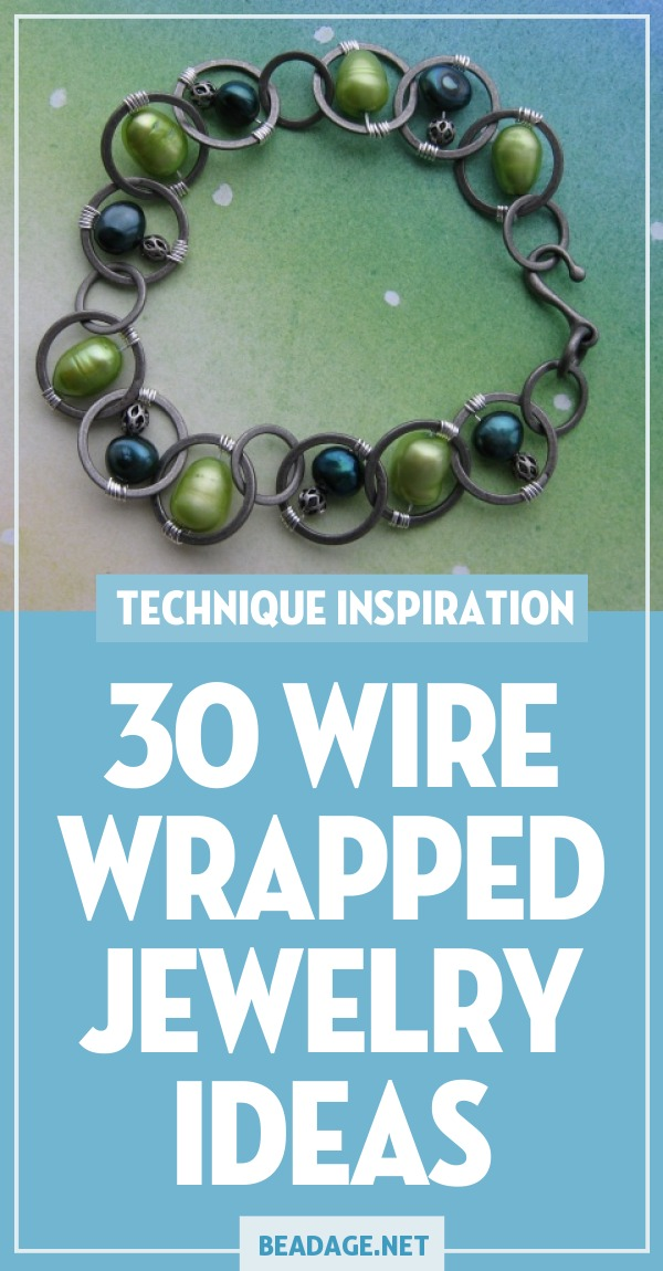30 Wire Wrapped Jewelry Ideas |  | DIY Jewelry Making Ideas, Beading Ideas, Handcrafted Beaded Jewelry, Handmade, Beginners, Tutorials, Craft Projects | Fashion, Accessoreis, Jewels, Gems, Style | #craft #diy #jewelrymaking #beading #beadage #fashion #accessories #jewelry #style