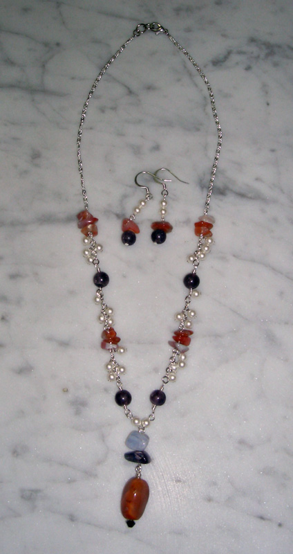 Carmenita Necklace and Earrings Project