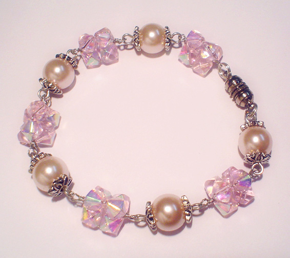 Peaches And Fairy Floss Bracelet Project