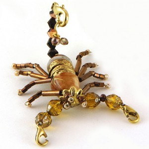 Beaded Scorpion Jewelry Idea